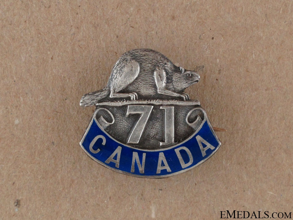 eMedals-WWI 71st Infantry Battalion Sweetheart Pin