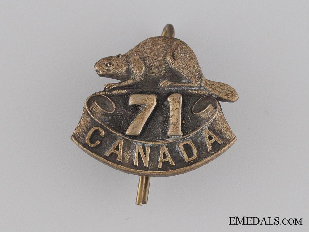 eMedals-WWI 71st Infantry Battalion Collar Tab CEF