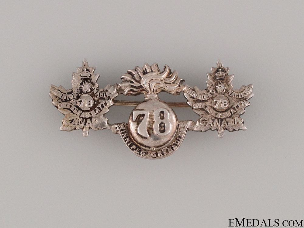 eMedals-WWI 78th Infantry Battalion  Pin CEF