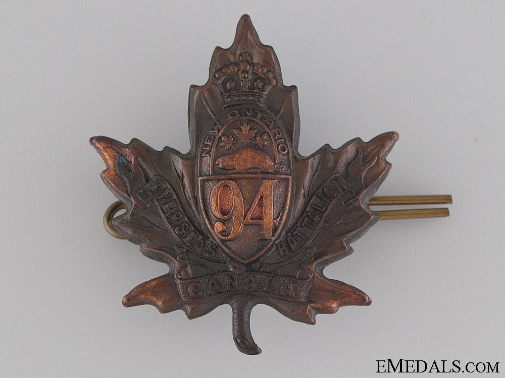 eMedals-WWI 94th Infantry Battalion Cap Badge CEF