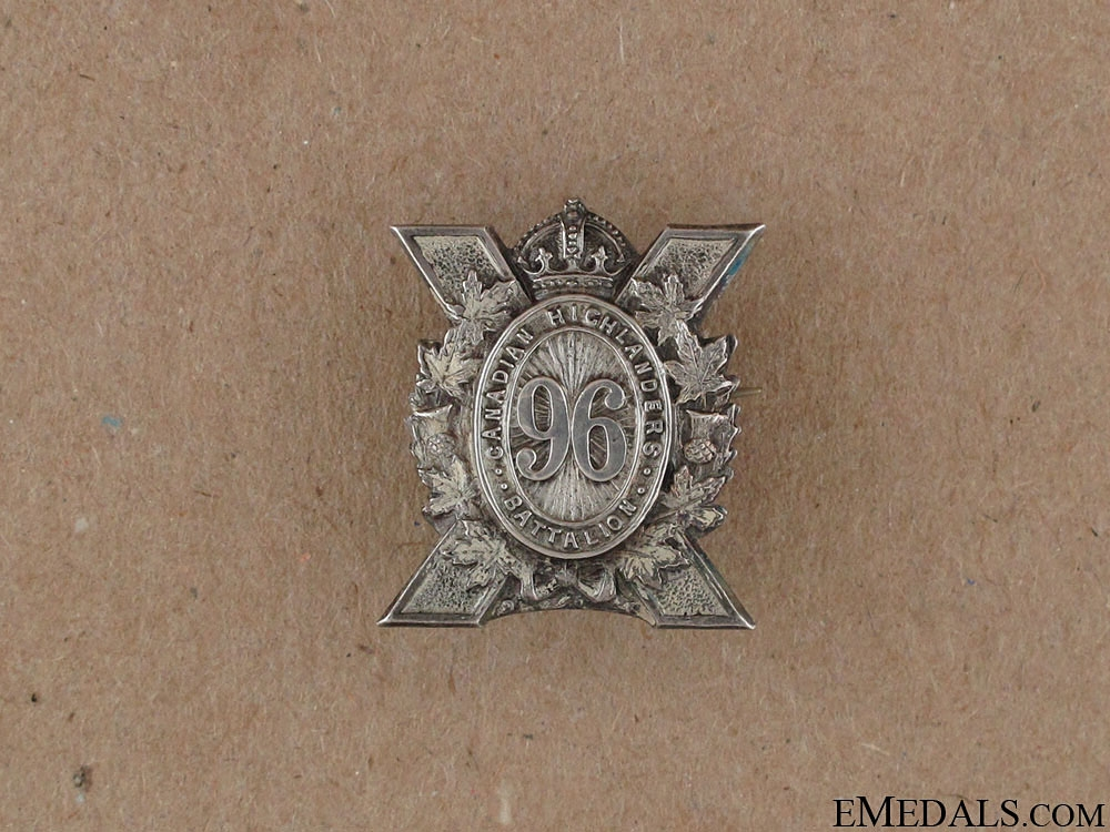 eMedals-WWI 96th Infantry Battalion Sweetheart Pin CEF