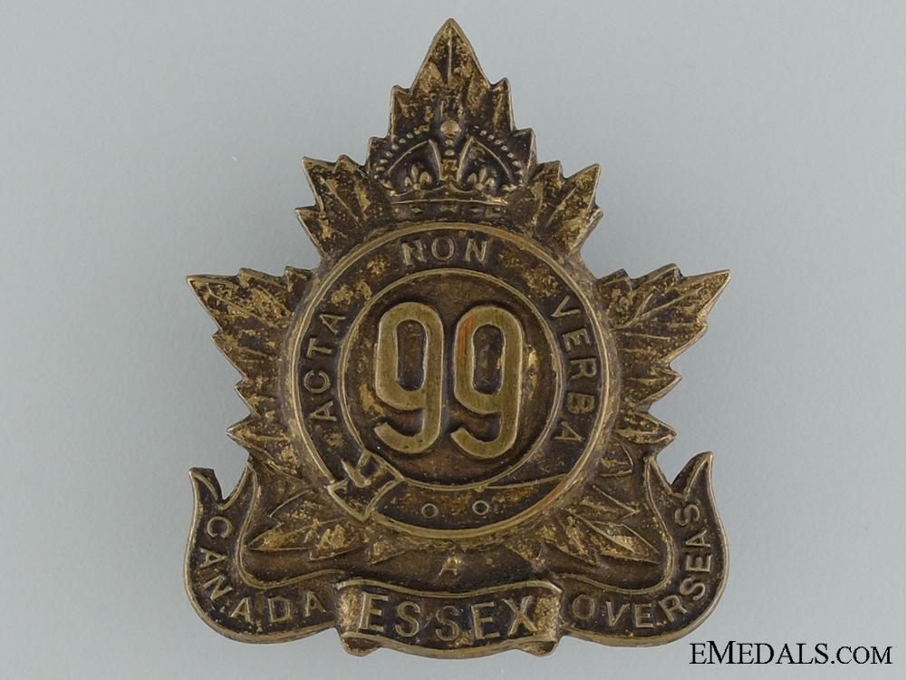 "eMedals-WWI 99th Infantry Battalion ""Essex Battalion"" Cap Badge"