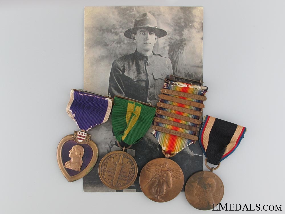 eMedals-A First War American Army Purple Heart Group