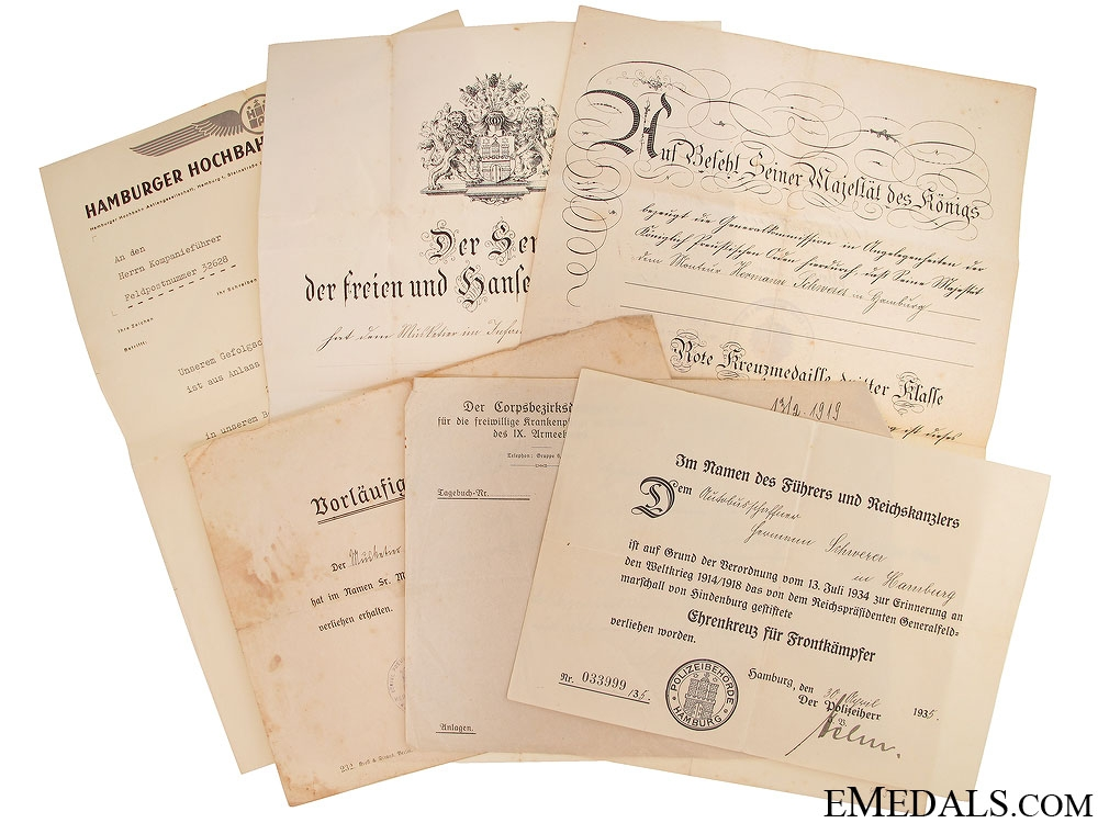 eMedals-WWI Award Document Grouping