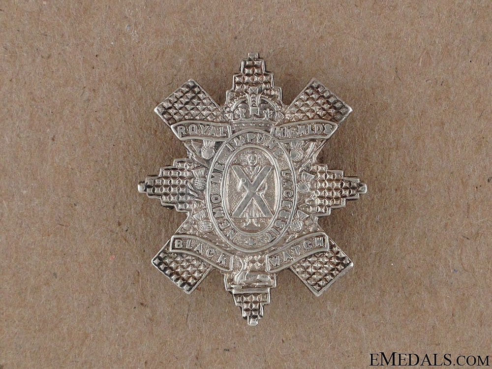 eMedals-WWI Black Watch Sweetheart Pin