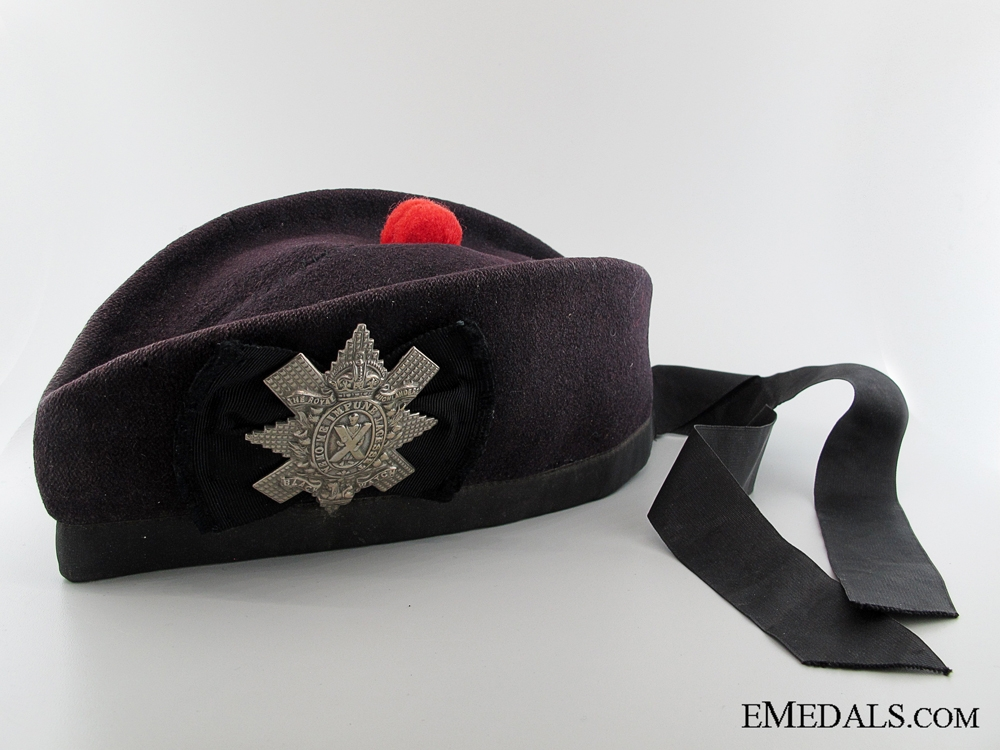 eMedals-WWI Black Watch (Royal Highlanders) Glengarry Cap