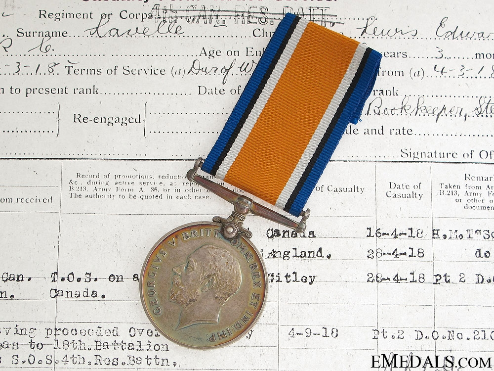 eMedals-WWI British War Medal - 3rd CAN INF