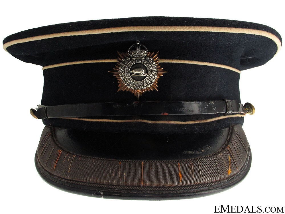 eMedals-WWI C.A.S.C Officer's Visor CEF