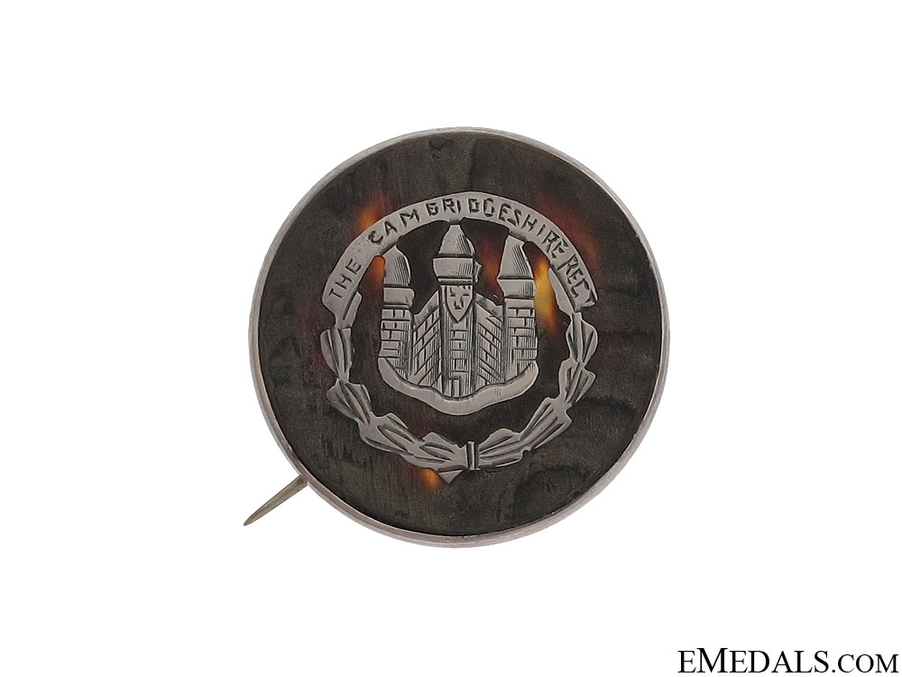eMedals-WWI Cambridgeshire Regiment Sweetheart Pin