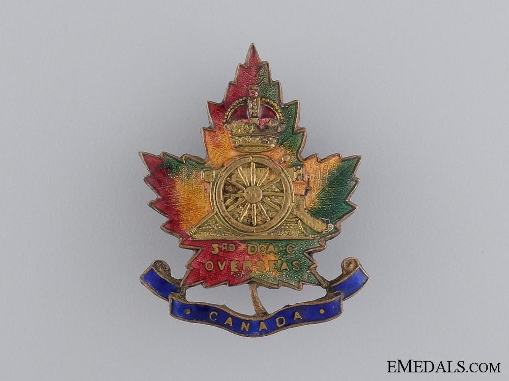 eMedals-WWI Canadian Heavy Artillery; 3rd Div. Ammunition Column Pin