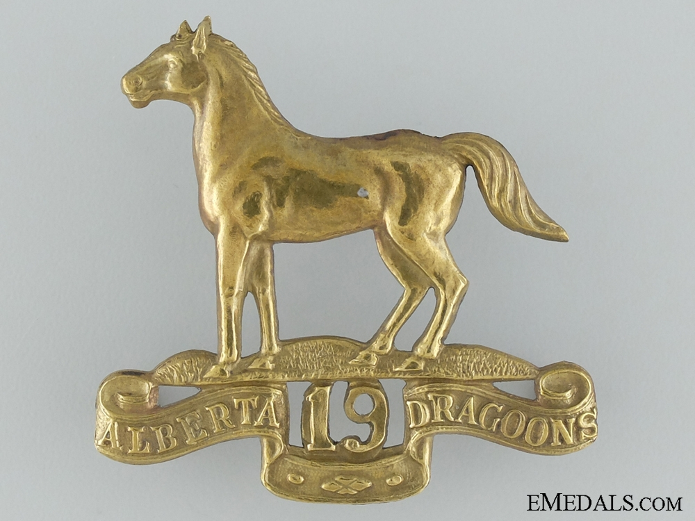eMedals-WWI Canadian Light Horse; 19th Alberta Dragoons Cap Badge