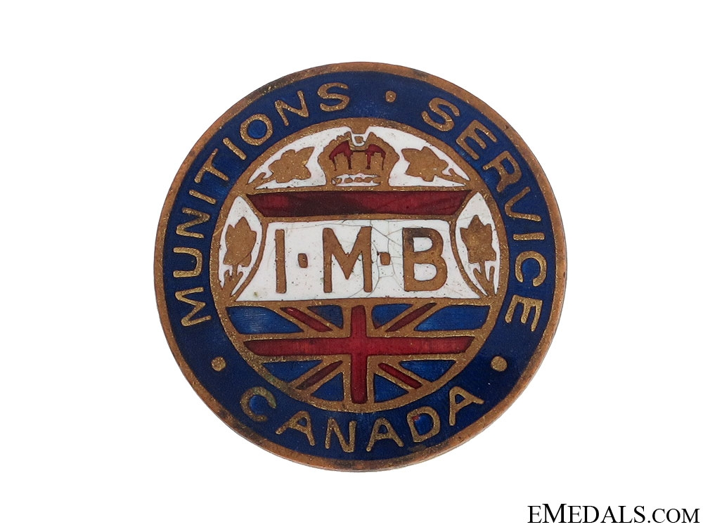 eMedals-WWI Canadian Munitions Service Lapel Badge