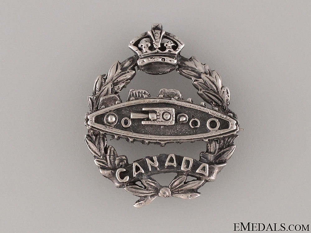 eMedals-WWI Canadian Tank Corps Silver Pin CEF