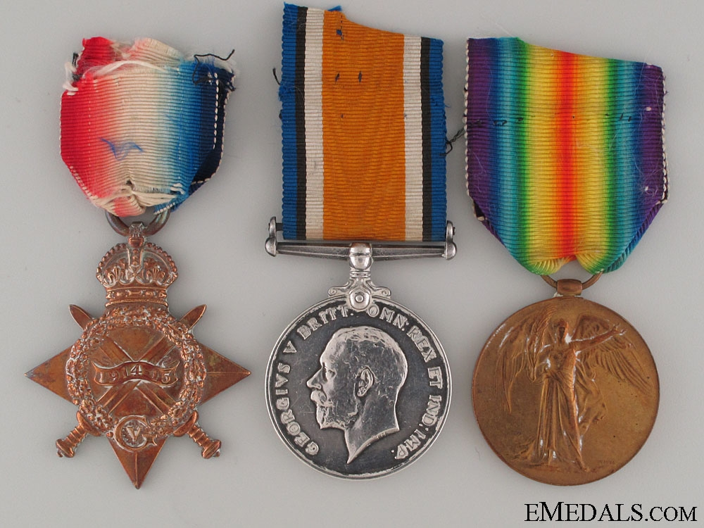 eMedals-WWI Canadian Trio to the 5th Field Ambulance
