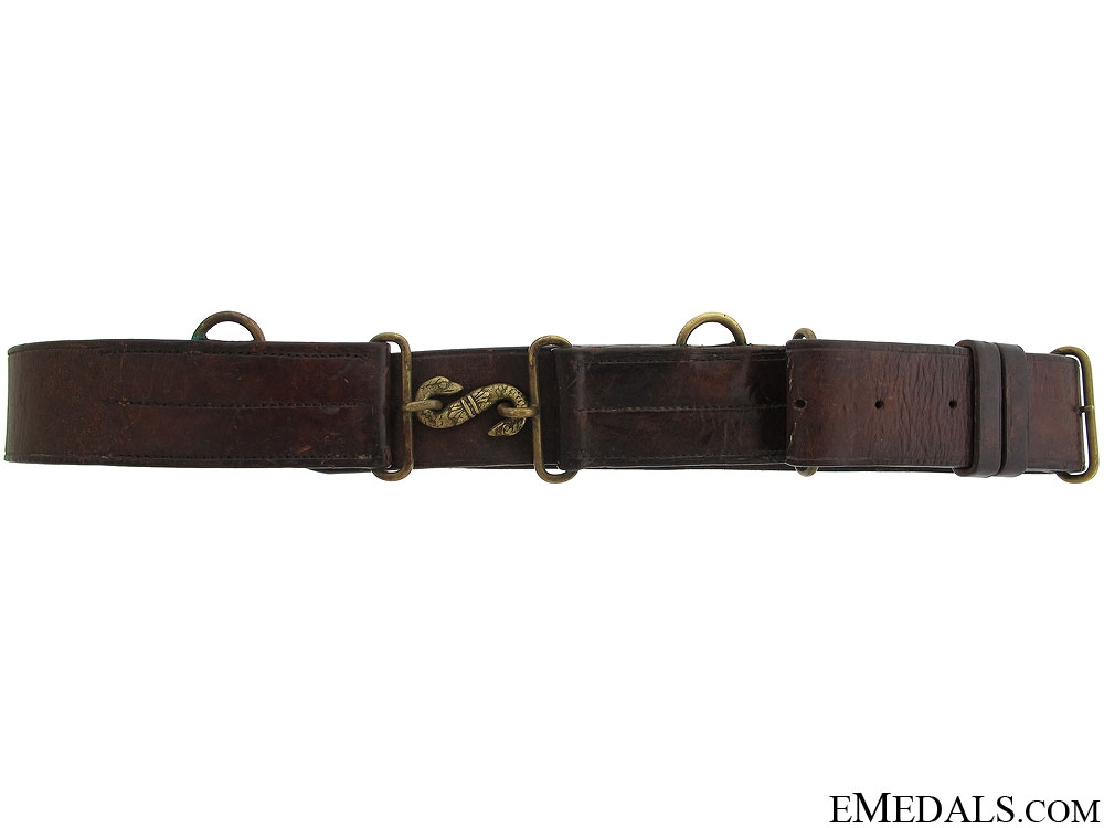 eMedals-WWI CEF Leather Snake Belt - Named