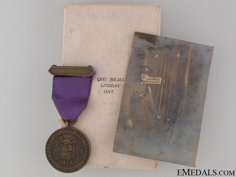 eMedals-WWI CEF Lindsay Honors Her Fallen Medal - 38th Batt.