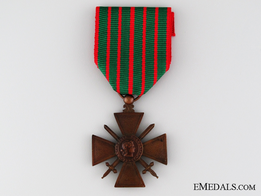 eMedals-WWI French War Cross; 1914-1917 Version