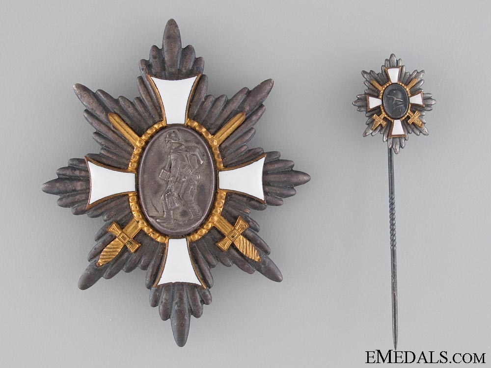 eMedals-WWI Hamburg Honour Award with Miniature