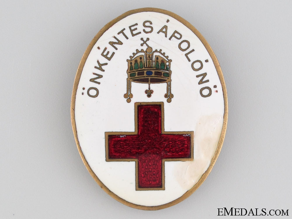 eMedals-WWI Hungarian Red Cross badge