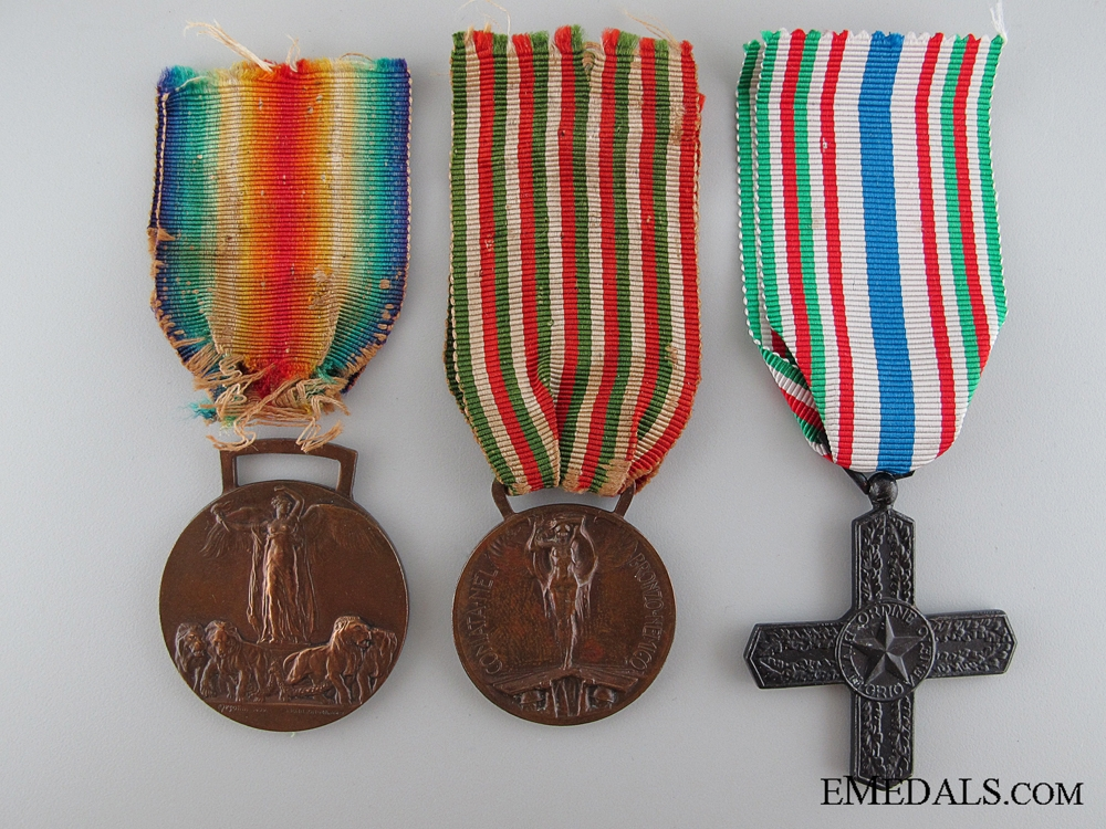 eMedals-WWI Italian Armed Forces Group of Three
