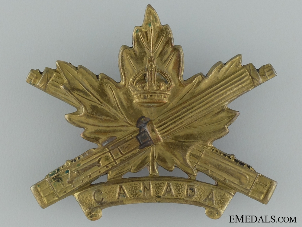 eMedals-WWI Machine Gun Corps Cap Badge; Canadian Issue; 4th Version