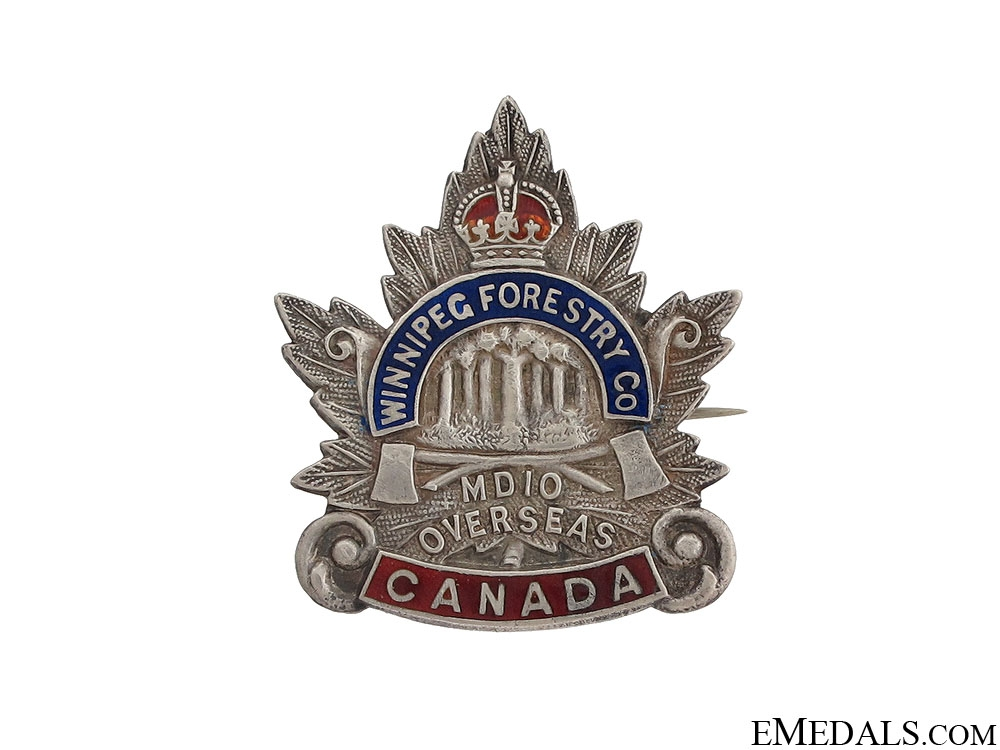eMedals-WWI Manitoba Forestry Company No.10 Pin CEF