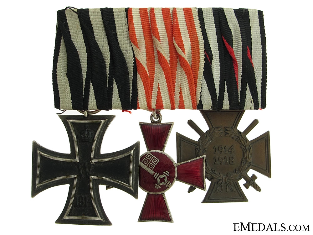 eMedals-WWI Medal bar with 3 Awards