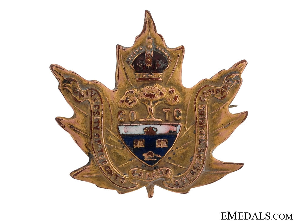 eMedals-WWI No. 2 University Company UofT Pin CEF