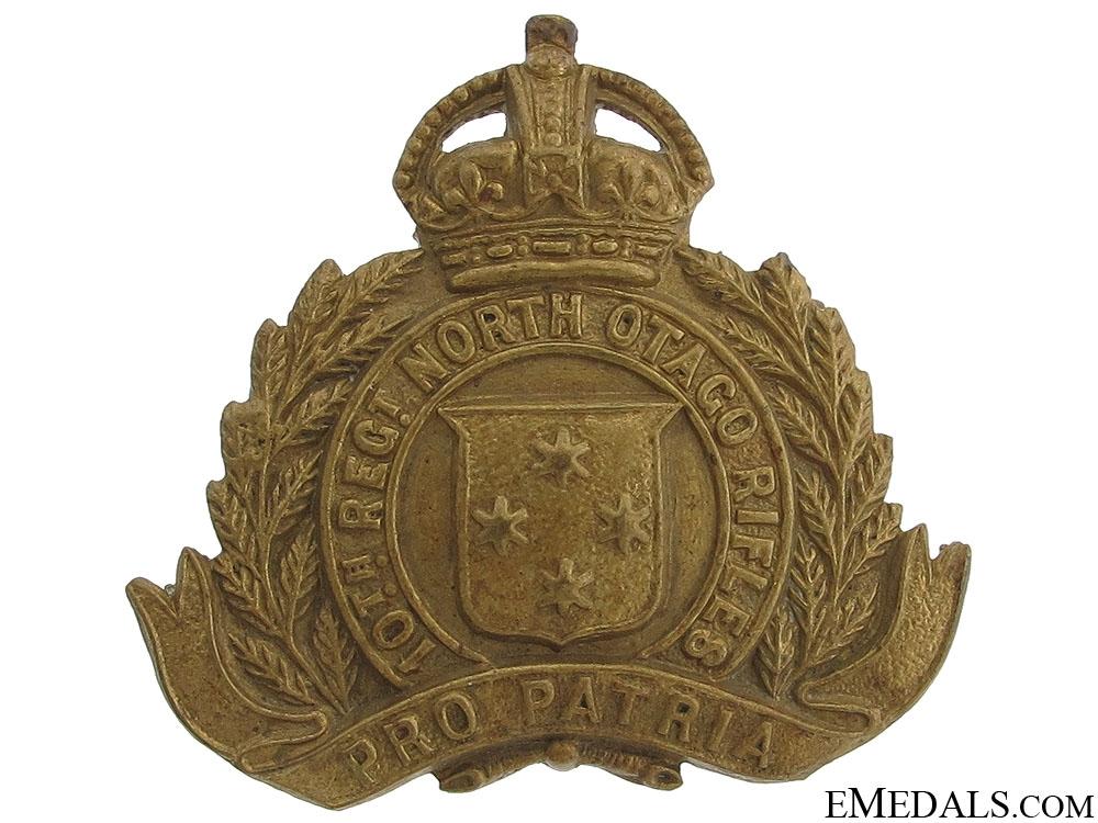 eMedals-WWI NZ 10th North Otago Rifles Cap Badge