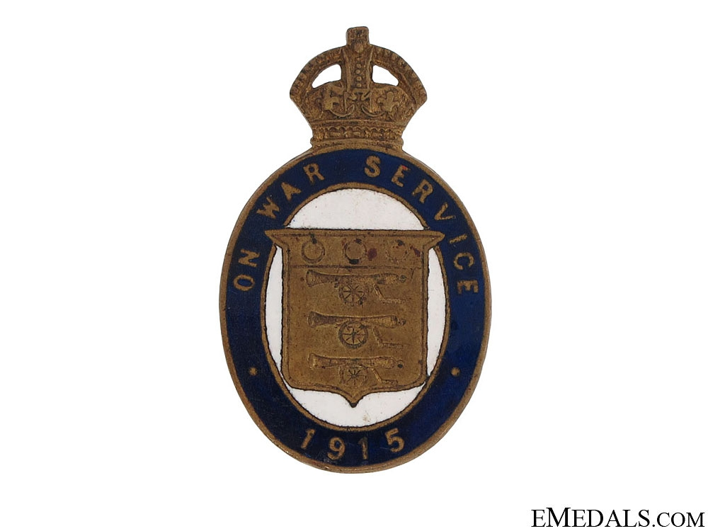 eMedals-WWI On War Service 1915 Munition Workers Badge