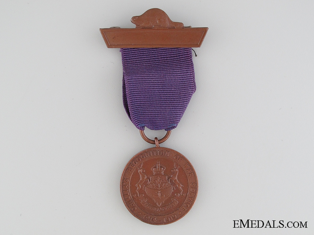 eMedals-WWI Orillia's Recognition of War Service Medal