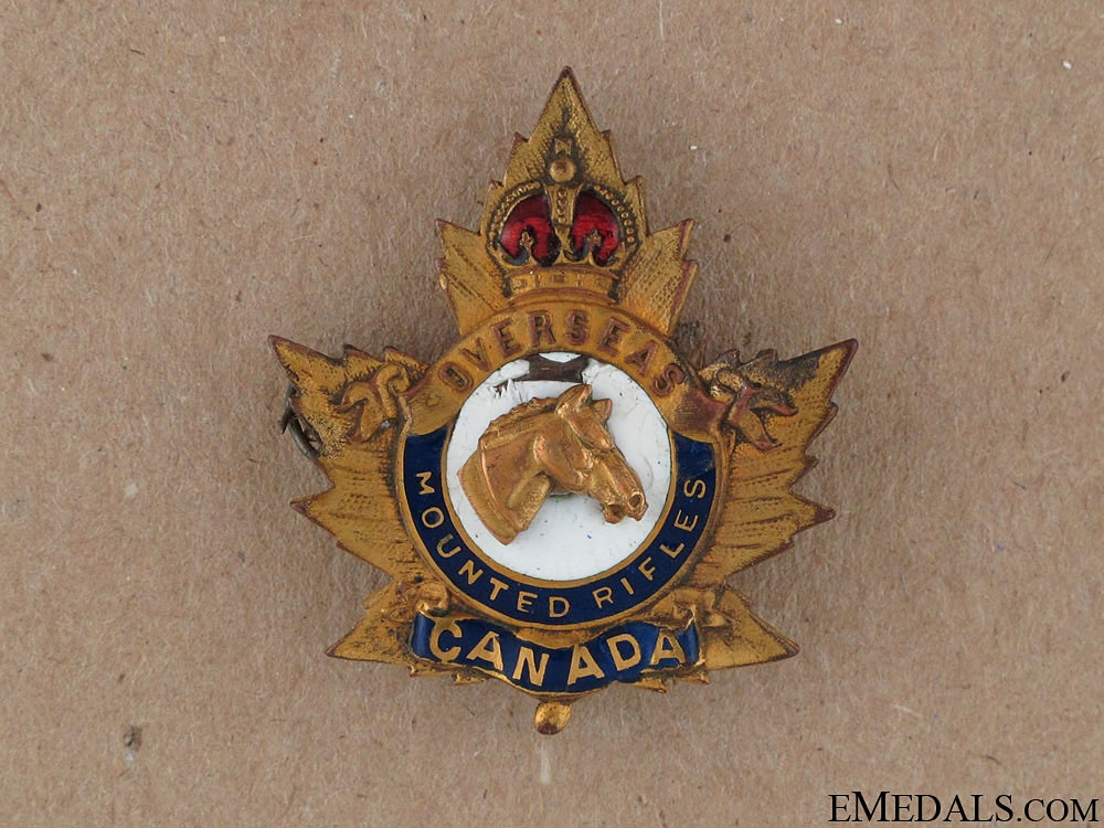 eMedals-WWI Overseas Mounted Rifles Sweetheart Pin