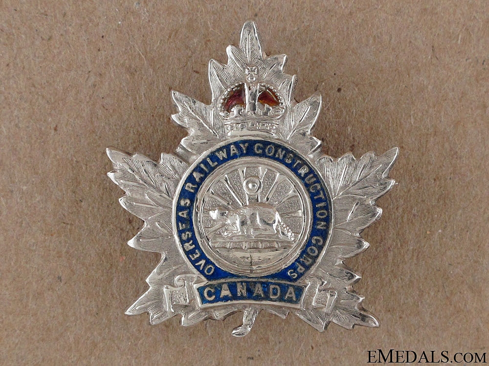 eMedals-WWI Overseas Railway Construction Corps Pin