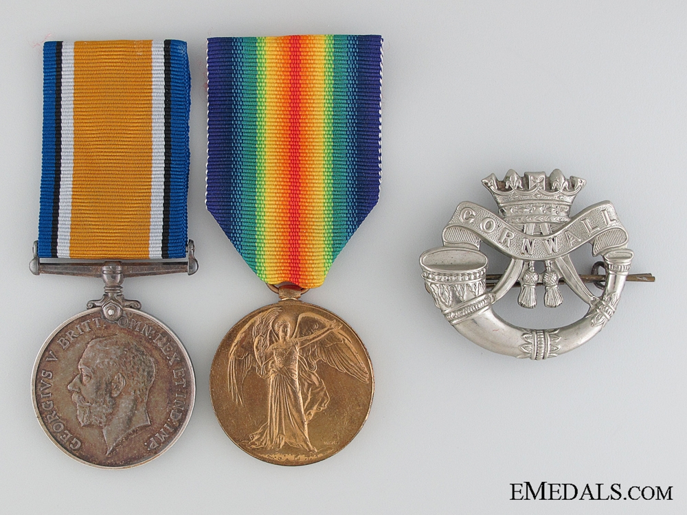 eMedals-WWI Pair to the Duke of Cornwall's Light Infantry