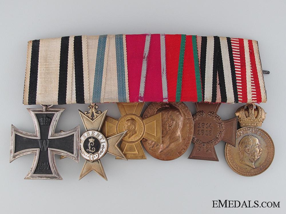 eMedals-A First War Non-Combatant Bavarian Medal Bar