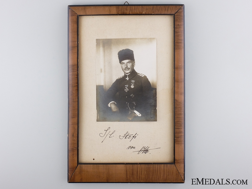 eMedals-WWI Photograph & Signature of Otto Liman von Sanders