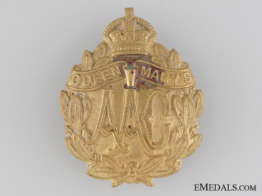 eMedals-WWI Queen Mary's Army Auxiliary Corps Cap Badge
