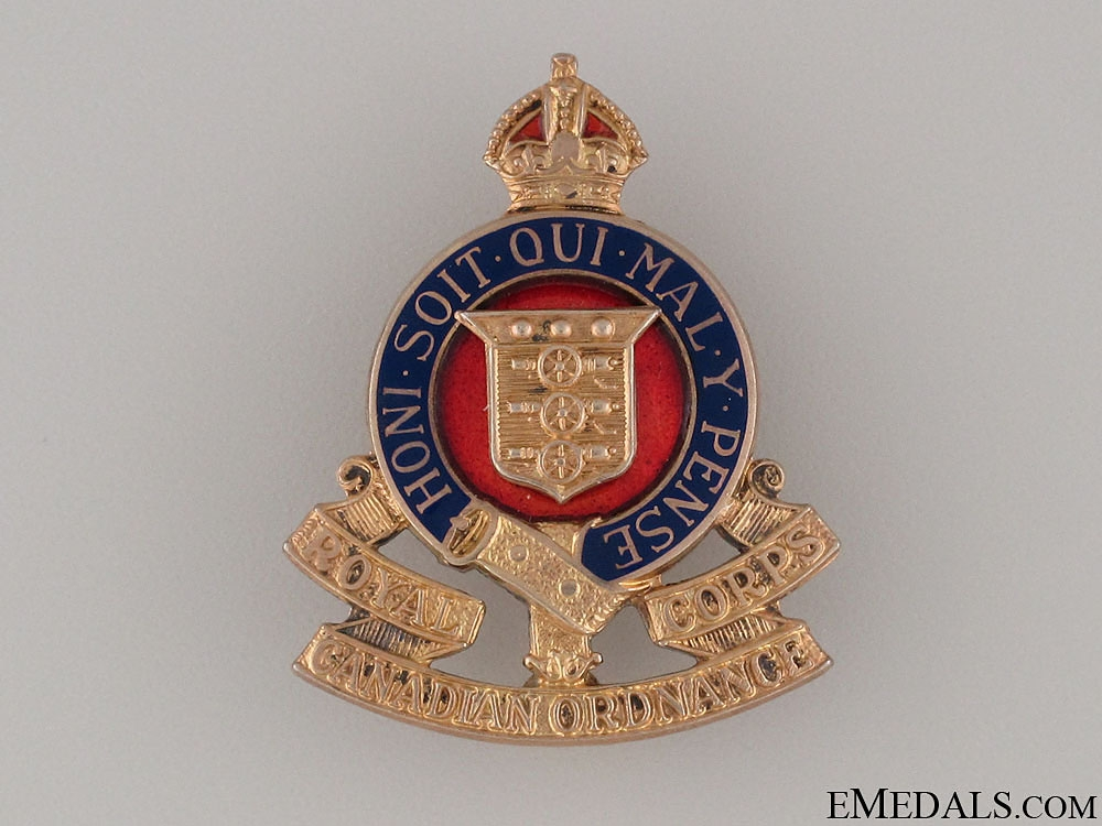 eMedals-WWI Royal Canadian Ordnance Corps Pin by Birks