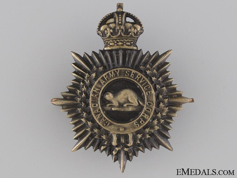 eMedals-WWI Royal Canadian Service Corps Cap Badge CEF