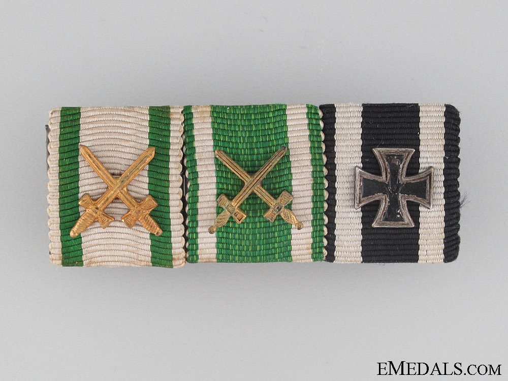 eMedals-WWI Saxon Ribbon Bar