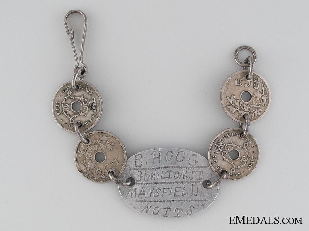 eMedals-WWI Trench Art Bracelet - Rifle Brigade KIA