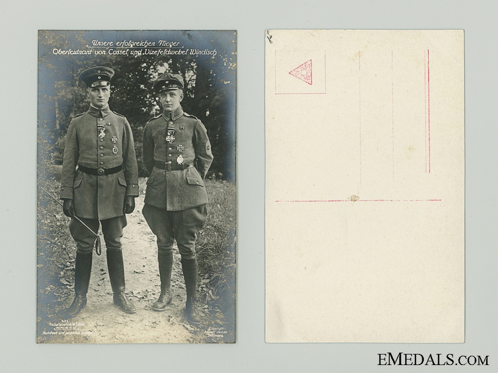 eMedals-WWI Two German Flying Aces Picture Postcard