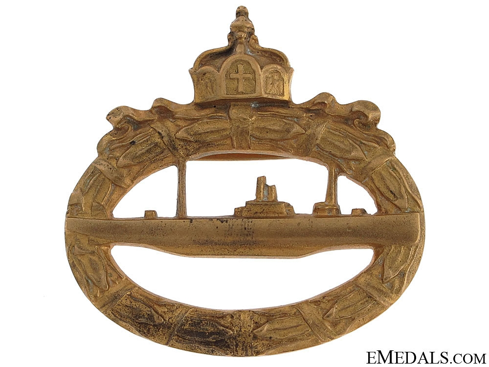 eMedals-WWI U-Boat Badge by Meybauer