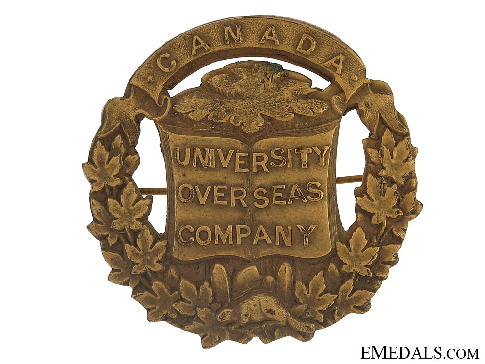 eMedals-WWI University Overseas Company Cap Badge - CEF