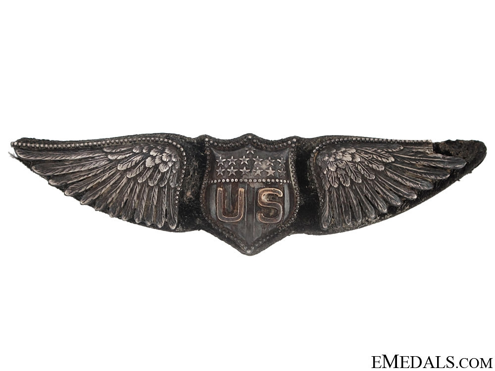 eMedals-WWI US Air Service Pilot Wing, Dallas Type, by BB&B