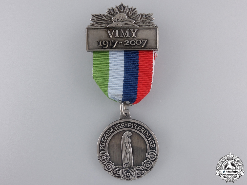 eMedals-WWI Vimy Pilgrimage 90th Anniversary Medal 1917-2007