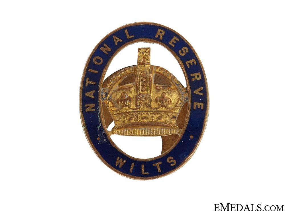 eMedals-WWI Wiltshire National Reserve Badge