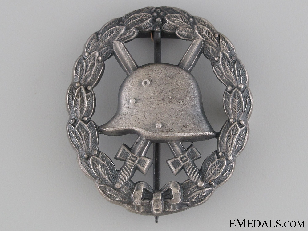 eMedals-WWI Wound Badge - Cut Out Silver Grade