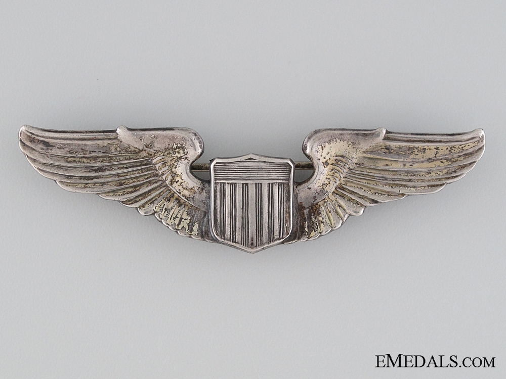 eMedals-WWII American Air Force Sterling Pilot Wing