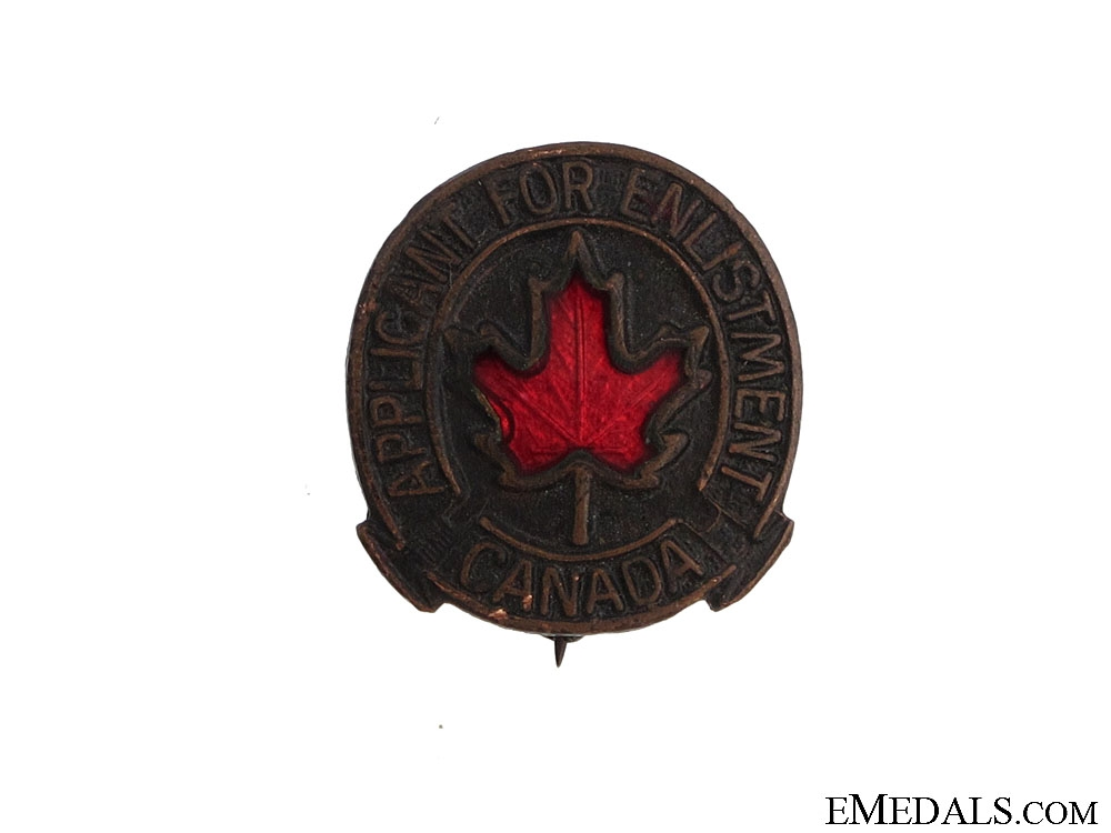 eMedals-WWII Applicant for Enlistment Badge